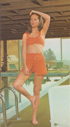 Retro Crochet Pattern - Women's Bikini Bathing Suit Set - 1970's original - Vintage Summer Fashion - Throw-back Style goes Modern