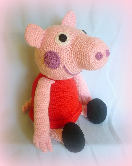 Free Crochet Pattern Peppa Pig – Father Pig – CrochetStein | 563x450
