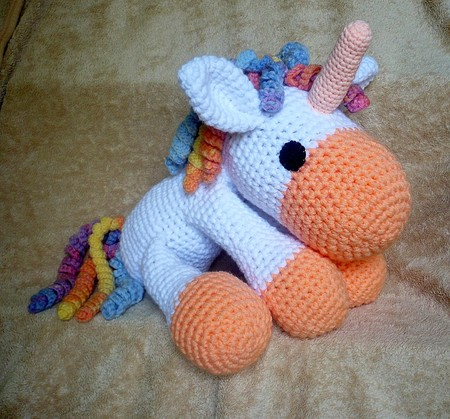 Crochet Baby Unicorn Pattern : Crochet Unicorn - pdf pattern - Crochetland - Craftfoxes