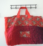 SHIPS FREE in cont US Paisley Quilted Tote Bag