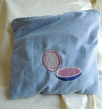 SHIPS FREE in cont US Handmade Makeup Bag with Embroidered Designs of Compact and Mirror