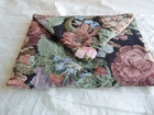 Tapestry Cluch Bag with Floral Closure (Ships Free in U.S.)