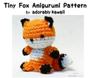 Tiny Fox Amigurumi - PDF Crochet Pattern