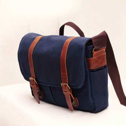 Waxed Canvas Laptop Bag