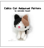 Calico Cat Amigurumi - PDF Crochet Pattern