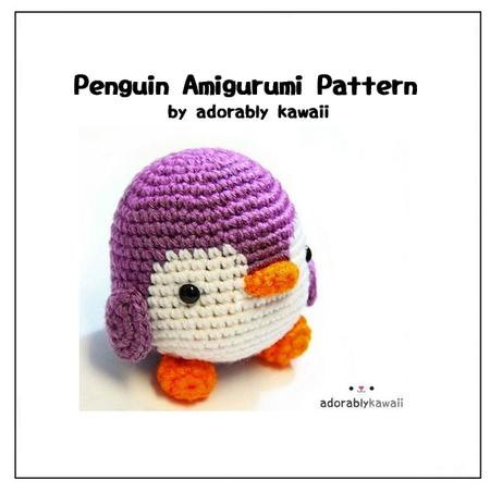 Tutorial Amigurumi Pinguino : Penguin Amigurumi - PDF Crochet Pattern - Adorably Kawaii ...
