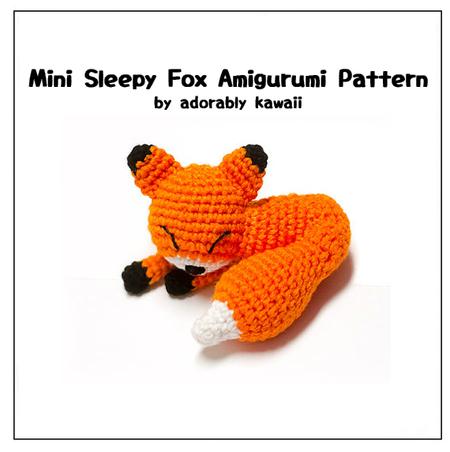 Sleepy Mini Fox Amigurumi - PDF Crochet Pattern - Adorably ...