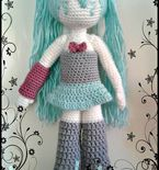 Amigurumi Crochet Hatsune Miku Doll Pattern - english pdf
