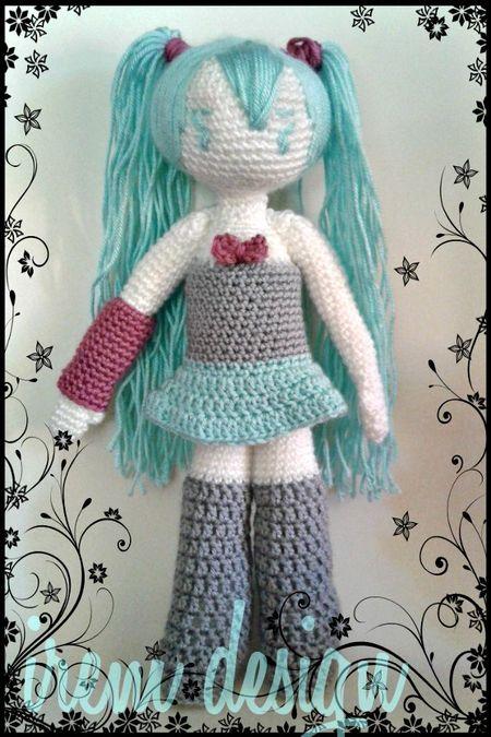 Amigurumi Crochet Hatsune Miku Doll Pattern - english pdf ...