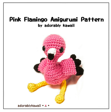 Pink Flamingo Amigurumi - PDF Crochet Pattern - Adorably ...