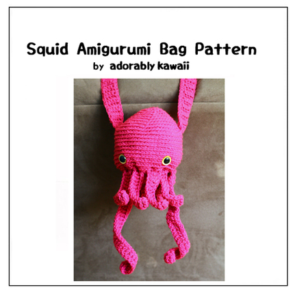 Amigurumi Yarn Pack : Squid Amigurumi Bag - PDF Crochet Pattern - Adorably ...