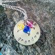 Personalized Grandmother Jewelry, Hand Stamped, Grandmother Jewelry, Grandma Jewelry, Nana, Silver Necklace, Jewelry