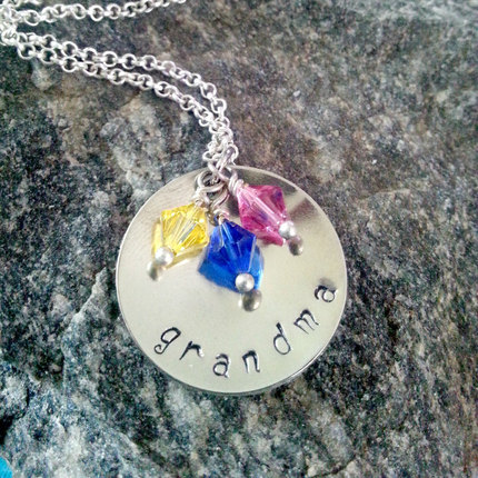 Personalized Grandmother Jewelry, Hand Stamped, Grandmother Jewelry, Grandma Jewelry, Nana, Silver Necklace, Jewelry