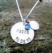 Personalized Baby Jewelry -Baby Jewelry Personalized- New Baby-  It's a Boy - Push Present, Boy, Birth, Silver, New Mom Gift,