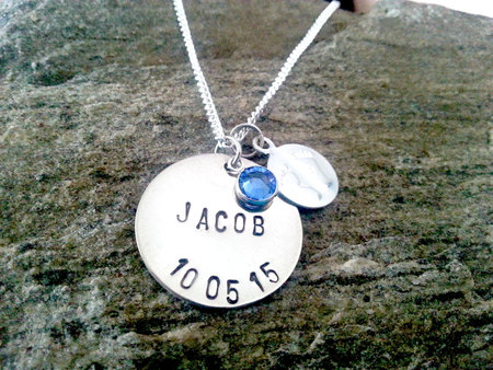 Personalized baby jewelry baby jewelry personalized new baby personalized baby jewelry baby jewelry personalized new baby its a boy push present boy birth silver new mom gift negle Image collections
