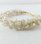 Kumihimo, Kumihimo Bracelet, Beaded bracelet, Ivory, Cream, Wedding Bracelet, Wedding Jewelry, Gifts for Her, Trending