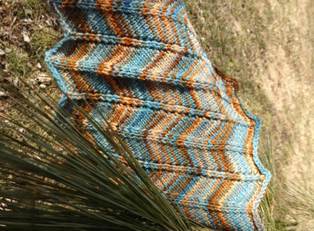 Chevron Knitting Pattern In The Round : Chevron Cowl PDF Pattern, hand dyed yarn, knit in the round, - 100Creations