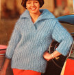 Vintage Knitting Pattern - Women's Slipon with Collar - 1960's Retro Mod Bulky Ribbed Sweater with Wide Collar (62A3)