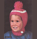 Kids AWESOME Puffball Hat - Vintage Knitting Pattern - 1960s original Knitted Cap for Children (69A7)