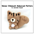 Sleepy Chipmunk Amigurumi - PDF Crochet Pattern