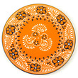 Mango-Colored Plate for Entertaining
