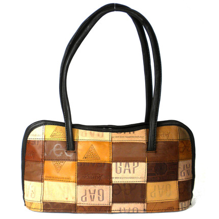 Over the Shoulder Bag Made from Leather Labels