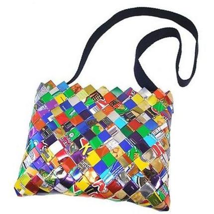 Over-the-Shoulder Candy-Wrapper Bag