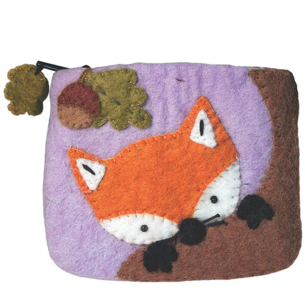 Baby Fox Felt Coin Purse