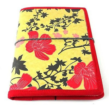 Spring Flower Journal with Red Trim