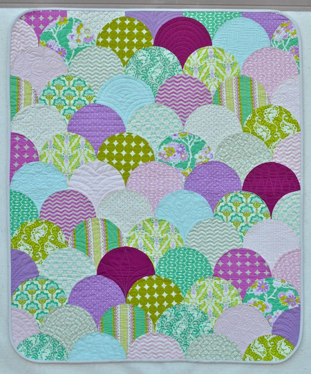 Heather Bailey Clamshell Baby Girl Quilt Modern Fabrics