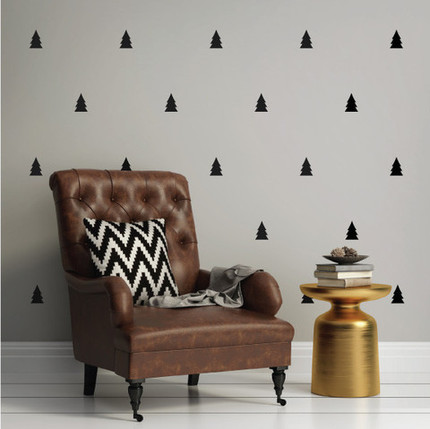 Pine trees mini pack wall decals wallsneedlove 39 s shop for Living room trackid sp 006