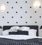 Black Coronata Stars Mini-Pack Wall Decals
