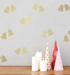 Gold Holiday Bells Mini-Pack Wall Decals