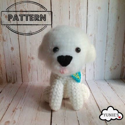 Crochet dog pattern : Bichon Frise