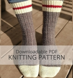 AVALON Ribbed Sock Knitting Pattern