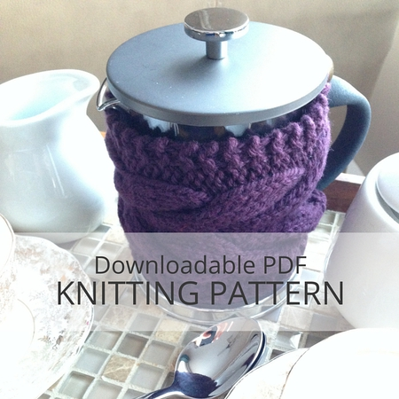 Bertha Teapot Or French Press Cozy Knitting Pattern Kniterations