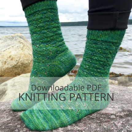 TWO IN CLOVER Sock Knitting Pattern