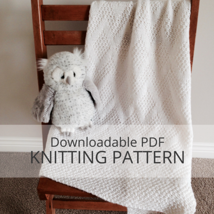 TAVIE Baby Blanket Knitting Pattern