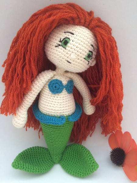 Amigurumi Mermaid Pattern : Crochet Pattern Ariel Mermaid Amigurumi Pdf - IremDesign ...
