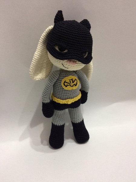 Bat Hero Bunny Amigurumi Pdf Pattern Batman Hero Bunny