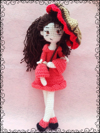 Amigurumi Girl with umrella - PDF Pattern