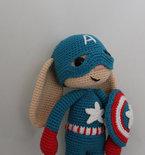 Captain America Bunny Amigurumi