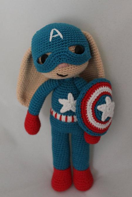 Captain America Bunny Amigurumi Iremdesign Craftfoxes