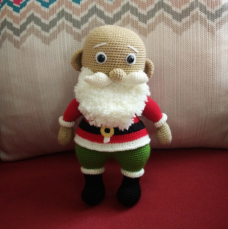 Amigurumi Santa Claus Crochet Pattern And Reindeer Toy Crochet ... | 453x450