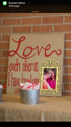 Forever Wedding Keepsake with Quote and Picture Frame