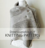 CORNER BROOK Square Shawl Knitting Pattern