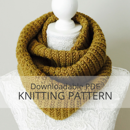 BIRCHY LAKE Infinity Cowl Knitting Pattern