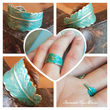 Turquoise Feather Ring