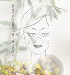 Natural 100% Cotton Eye Mask Facial Toning Moisturizing Refreshing Witch Hazel Olive Oil Hydrating Spa Treatment