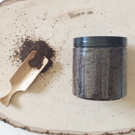 All Natural Coffee Arabica Sugar Coconut Oil Scrub for Body Helps with Cellulite Skin Soothing Moisturizing Exfoliating PET Jar